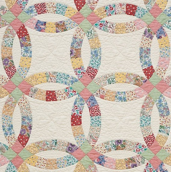 Double Wedding Ring Precut Quilt Kit 1930 S By