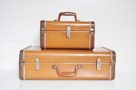 Mid-Century Two-Tone Suitcase - Medium