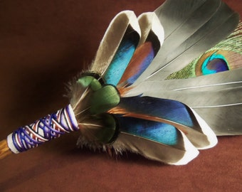 Smudge Fan- Shinning from Within - Sacred Prayer Fan- Made to Order