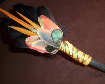 Smudge Fan- Blooming and Becoming - Sacred Prayer Fan