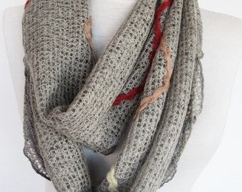 Grey Wool Scarf, Gift, Winter Trends