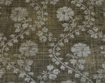 Vintage Fabric - Green Floral  - Waverly - Greta - Cotton