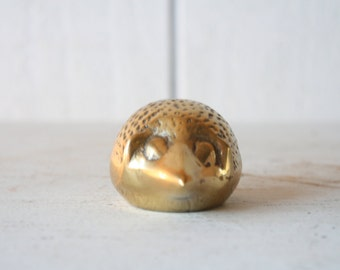Vintage Brass Hedgehog // Solid Brass