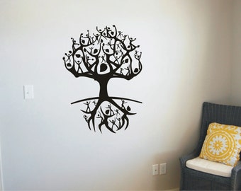 Tree Of Life People Vinyl Decal, Wall Sticker, Wall Tattoo