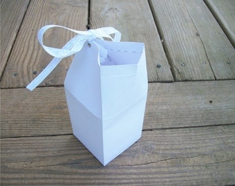 Printable Blank Milk Carton Favor Box Template