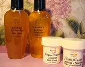 Jamilah Hair Care Sampler - Organic Shampoo, Hair Rinse, Hair Conditioner & Hair Food - Take It With You, Travel-Ready, Natural Hair Care