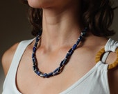 Vintage Necklace, Moroccan Necklace, Statement Necklace, Lapis Lazuri Necklace, High Fashion Jewelry, Gift For Wife, Maroccan Jewelry