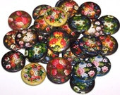 "Flowers Floral Bouquet Set of 10 Buttons 1 Inch Pinback Buttons 1"" Pins or Magnets"