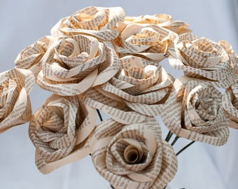Two Dozen Book Page Roses