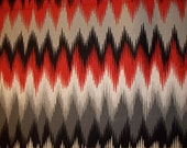 Navajo Red Black Grey Indian Print Cotton Fabric FQ or Custom OOP