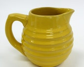 Vintage Bauer Ringware Yellow Creamer