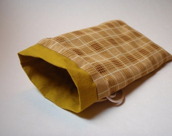 Butterscotch Plaid Tarot bag (large)