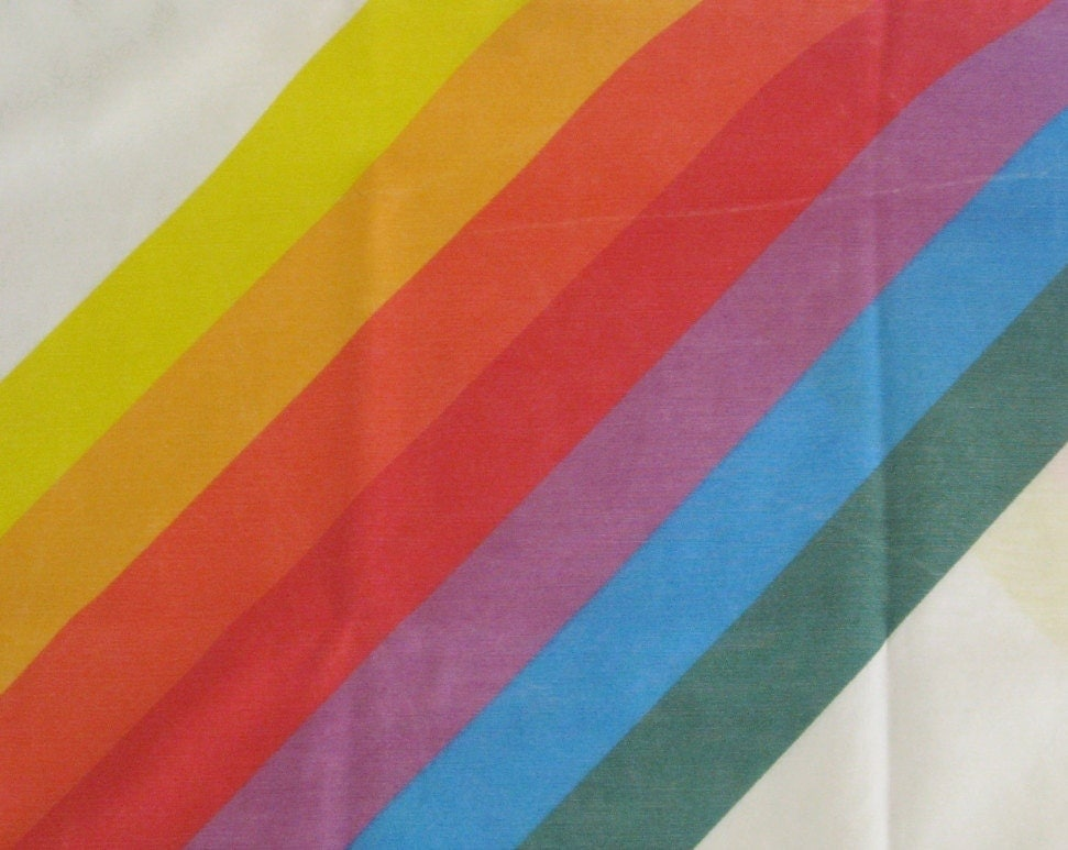 Rainbow Sheet Set Vintage Sheets Queen Size Rainbow Fitted