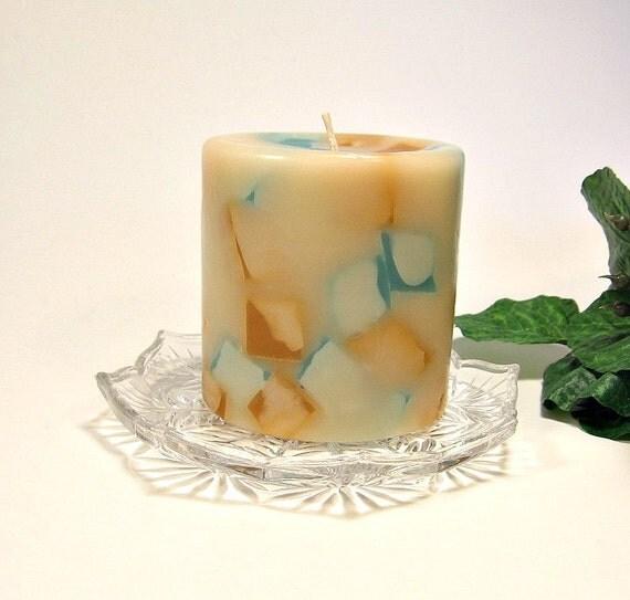 Pillar candle Sandalwood scent chunk style 3x3