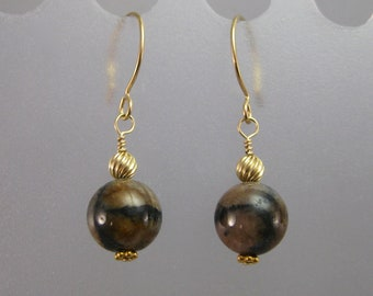 Andalusite and gold earrings CHARITY DONATION