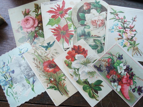 S A L E 3.00--Paper Ephemera, Vintage Cards Lot 11, Great for Scrapbooking/Card making or Framing