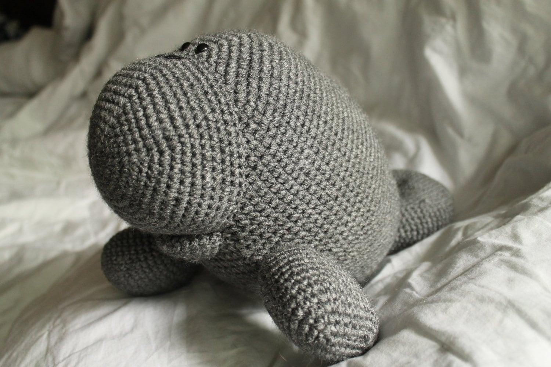 Amigurumi Manatee : Manfred the Manatee Amigurumi Plush Crochet PATTERN ONLY
