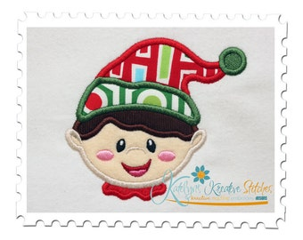 Boy Elf Applique Head Shot