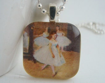 Dress Rehearsal Square Pendant with Free Necklace
