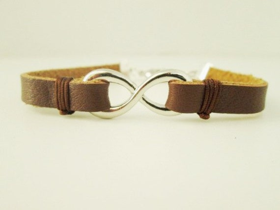 For Him - Brown Leaher Infinity Bracelet