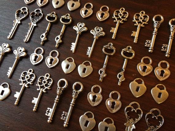 lock key skeleton keys and locks 20 x antique silver. Black Bedroom Furniture Sets. Home Design Ideas
