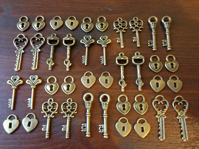 lock key skeleton keys and locks 20 x antique bronze. Black Bedroom Furniture Sets. Home Design Ideas