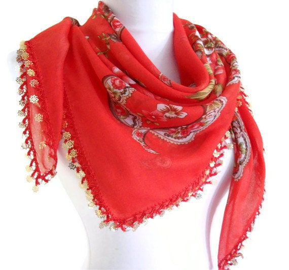 traditional, authentic, mothers day, wedding, bride, Scarf ,2014 Spring Fashion, Red, Traditional Turkish-style,