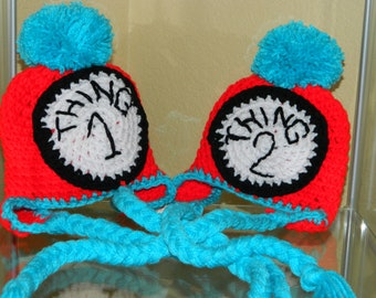 Thing 1Thing 2 hats'