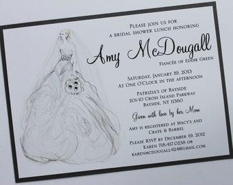 Classy Bride Bridal Shower Invitation