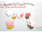 Baby Crib Flowers Mobile- made to match Dwell Studio Rosette- Baby Mobile Rosette Blossom - Custom Made Baby Mobile