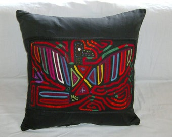 18 x 18 Black embellished pillow cover 220
