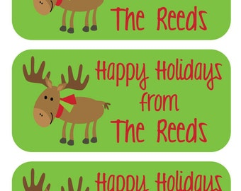 81 Gift Tag Stickers - Add a custom and personalized touch to all of your Christmas gifts this year