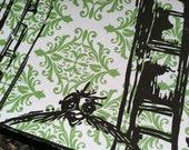 Flying Sam linocut block print in black ink...4x6