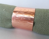 Reserved for Sarah: Napkin Rings - Textured Copper Napkin Rings, Set of 8