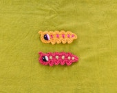 Instant Download - PDF Crochet Pattern - Caterpillar Applique - Text instructions and SYMBOL CHART instructions