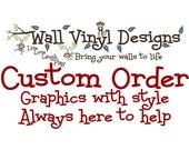 custom order for Michelle Lane