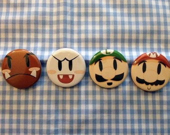 Super Mario Button Set