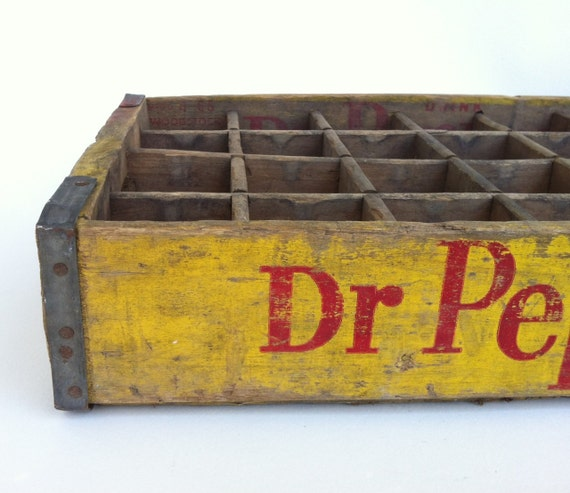 Vintage Wooden Weathered Dr. Pepper Crate