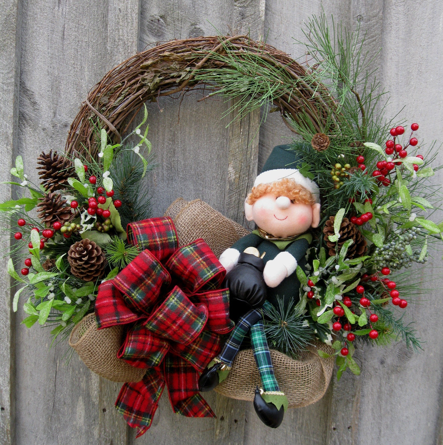 Making Natural Christmas Decorations: Christmas Wreath Holiday Wreath Woodland Décor Irish