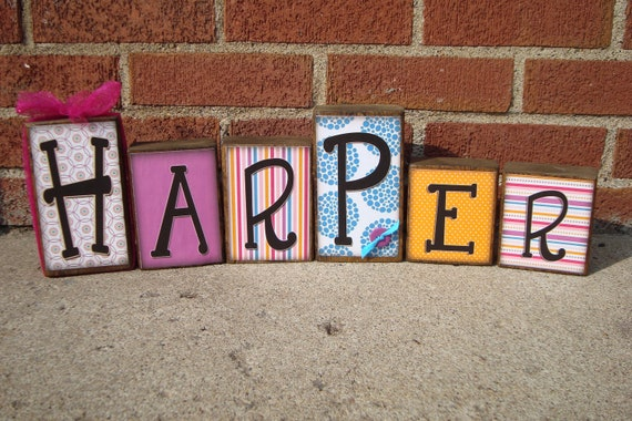 Personalized  Name Blocks - Loft Blocks - Fun decor for any child's room