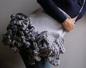 Tentacled merino wool bag