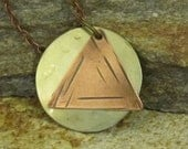RESERVED - Circle and Triangle logo pendant necklace. Recovery theme for AA members in recovery