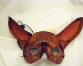Patchwork Bunny Leather Mask
