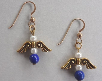 Angel Lapis Earrings--FREE SHIPPING!