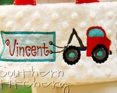 Boys Tow Truck Tooth Pillow Door Hanger Personalized Great Baby Gift Birthday Ring Bearer