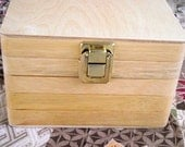 Wooden Keepsake Storage Hinged Box with Latch Reclaimed Wood
