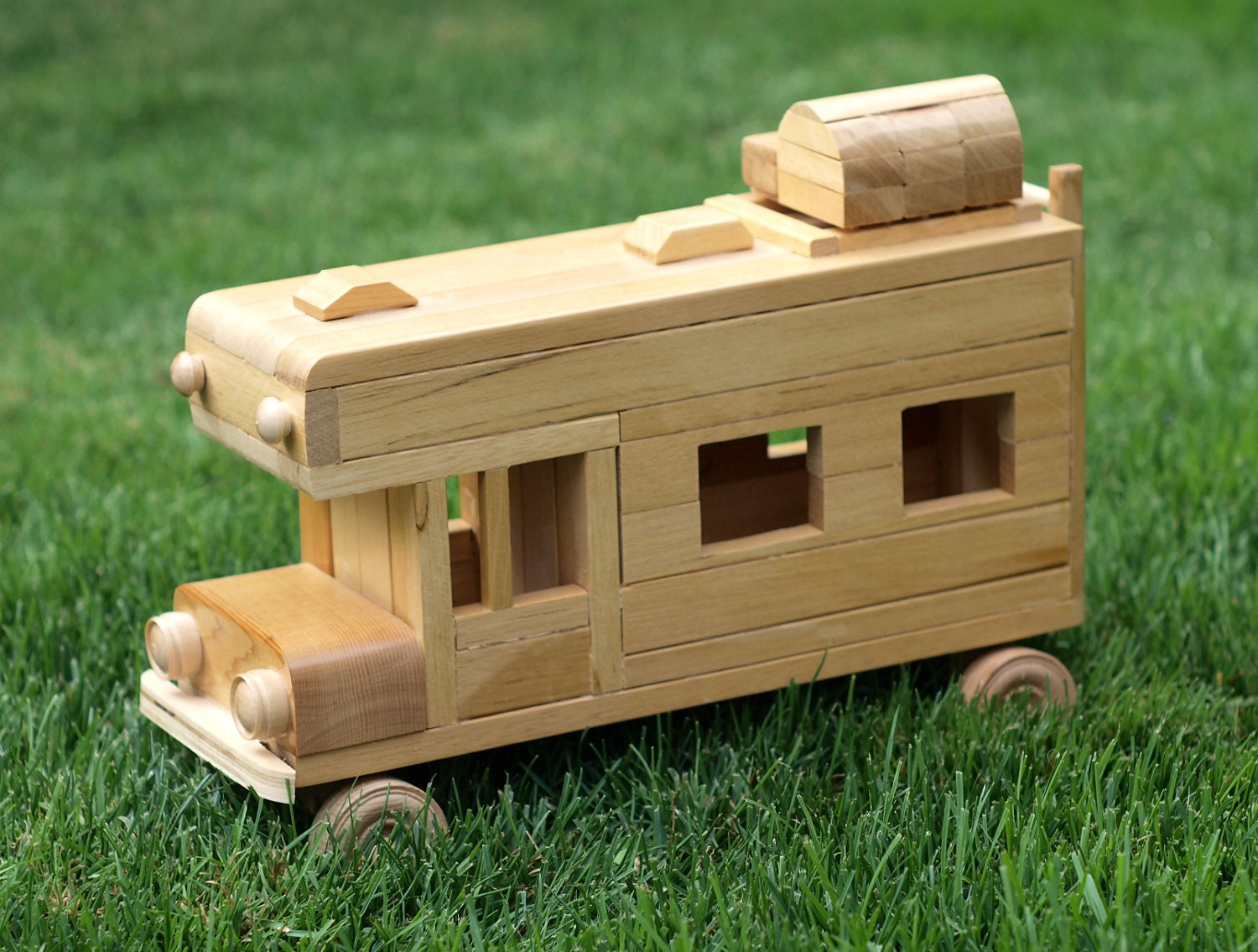 Eco Friendly Wooden Children 39 S Toy Car Camper Reclaimed