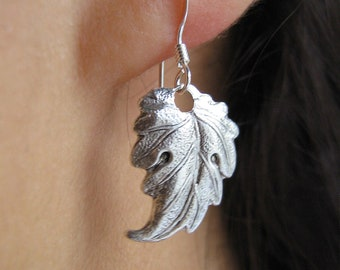 30% silver Leaf Earrings