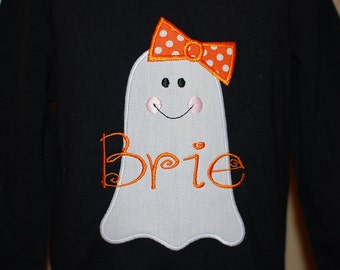 INSTANT DOWNLOAD, Machine Applique Design, Girly Ghost
