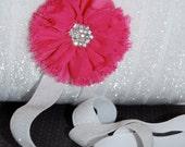 "Fold Over Elastic - Shiny FOE 5/8""  White Glitter Headbands Hair Ties Satin Elastic - 5 yards White B-9 Glitter Sparkle Elastic Soft  FOE"